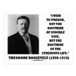 Theodore Roosevelt Doctrine Strenuous Life Postcard