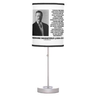 Theodore Roosevelt Fanatics Lunatic Fringe Quote Table Lamps
