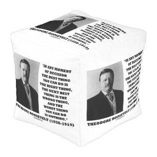 Theodore Roosevelt Moment Of Decision Best Thing Cube Pouf