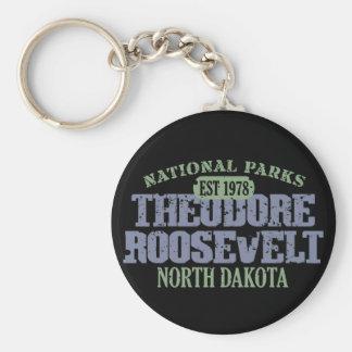 Theodore Roosevelt National Park Basic Round Button Keychain