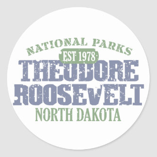 Theodore Roosevelt National Park Classic Round Sticker