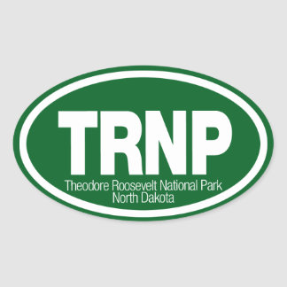 Theodore Roosevelt National Park Oval Sticker