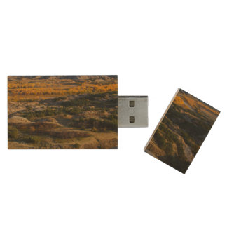 Theodore Roosevelt National Park Wood USB 2.0 Flash Drive