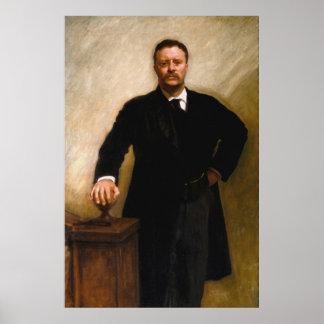 THEODORE ROOSEVELT Portrait By John Singer Sargent Poster