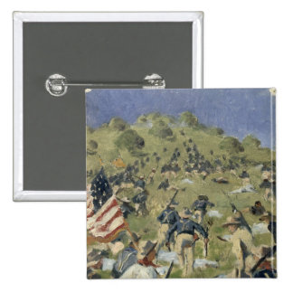 Theodore Roosevelt taking the Saint Juan 2 Inch Square Button