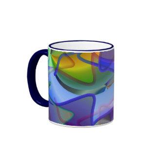Théorie de ficelle miroitant le résumé tasse à café