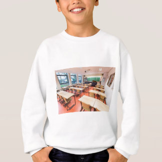 Theory classroom in high school sweatshirt