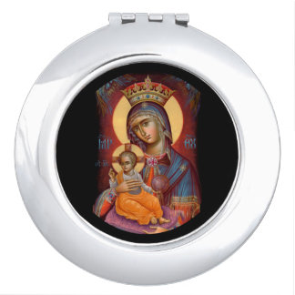 Theotkos Mary Holding Baby Jesus Mirrors For Makeup
