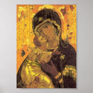 Theotokos of Vladimir Poster