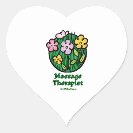 Thérapeute Blooms2 de massage Autocollant En Cœur
