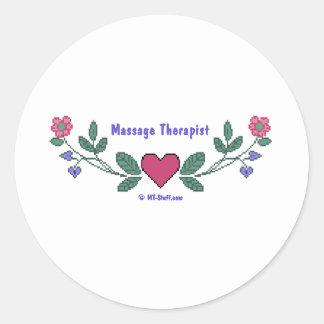 Thérapeute croisé du point M Sticker Rond
