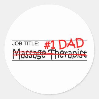 Thérapeute de massage de papa du travail sticker rond