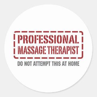 Thérapeute professionnel de massage sticker rond
