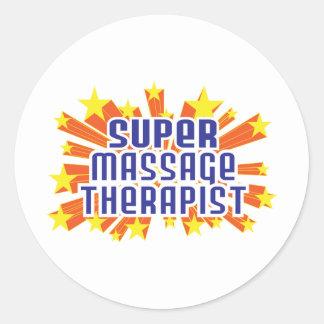 Thérapeute superbe de massage sticker rond