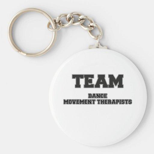 Thérapeutes de mouvement de danse d'équipe porte-clé
