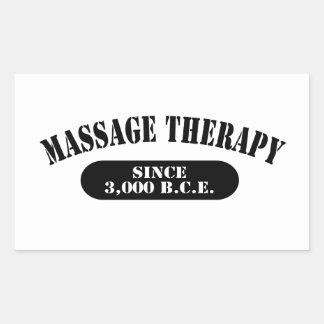 Thérapie de massage depuis 3.000 B.C.E. Autocollant Rectangulaire