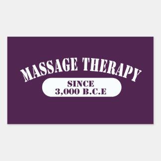 Thérapie de massage depuis 3.000 B.C.E. Autocollants Rectangulaires