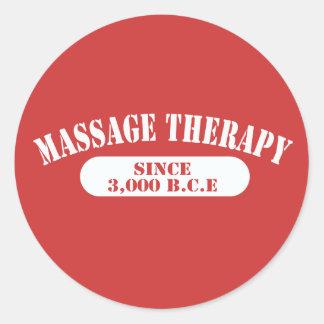 Thérapie de massage depuis 3.000 B.C.E. Autocollants Ronds