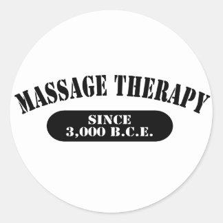 Thérapie de massage depuis 3.000 B.C.E. Adhésifs Ronds