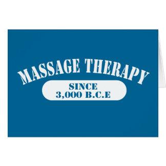 Thérapie de massage depuis 3 000 B C E Cartes De Vœux