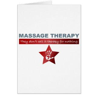 Thérapie de massage en rouge rouge carte de vœux