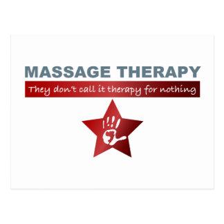 Thérapie de massage en rouge rouge carte postale