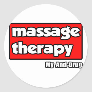 Thérapie de massage. Ma Anti-Drogue Adhésif Rond