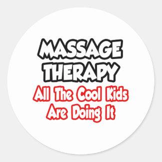 Thérapie de massage… tous les enfants de cool adhésif rond