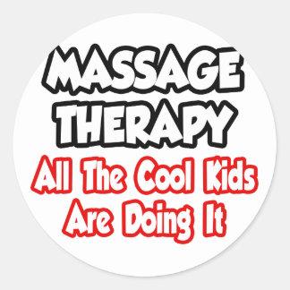 Thérapie de massage… tous les enfants de cool adhésif