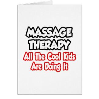 Thérapie de massage… tous les enfants de cool carte