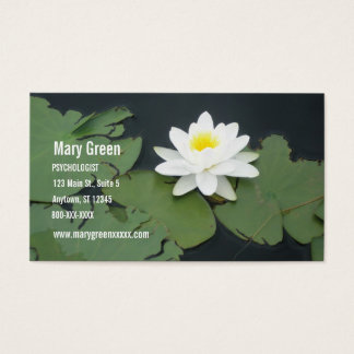 Therapist Business Card with Water Lily