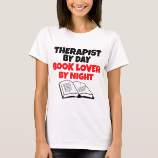 Therapist by Day Book Lover by Night T-Shirt