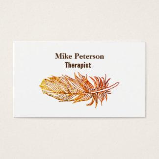 Therapist Custom UV Matte Bussines card