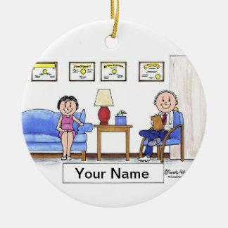 Therapist, Psychologist - Male Ceramic Ornament
