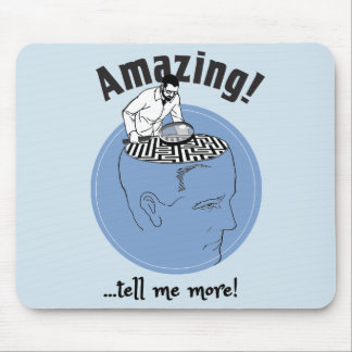 Therapist, Psychologist study human brains Mouse Pad