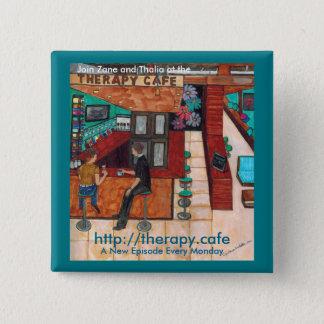 """Therapy Café 2"""" x 2"""" Square Button"""