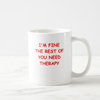 therapy classic white coffee mug