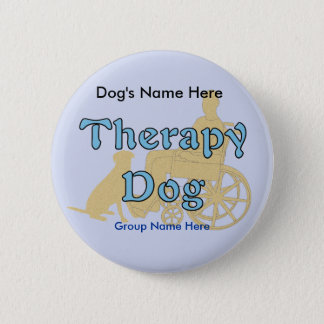 Therapy Dog 2 Inch Round Button