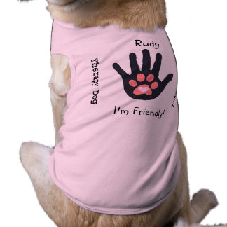 Therapy Dog (Deep Pink Paw) Shirt