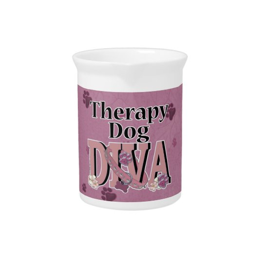 Therapy Dog DIVA Drink Pitcher
