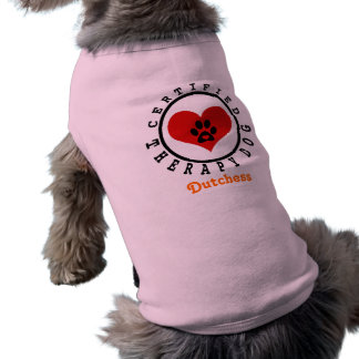 Therapy Dog Heart and Paw Shirt