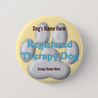 Therapy Dog ID 2 Inch Round Button
