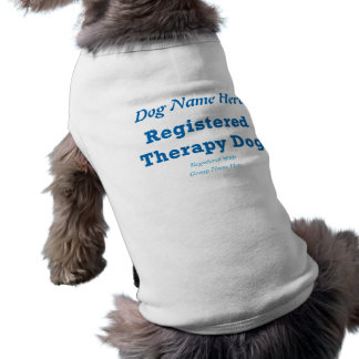 Therapy Dog ID Dog T-shirt