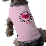 Therapy Dog - Pink Heart Paw and Name Pet Clothes