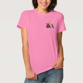 Therapy Dog Schnauzer Embroidered Shirt