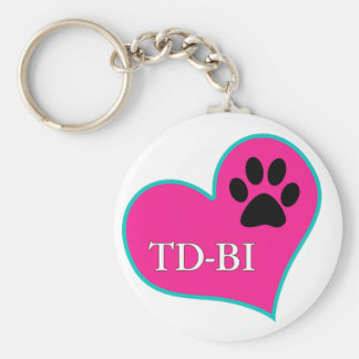 [Therapy Dogs Bloomington Illinois Basic Round Button Keychain