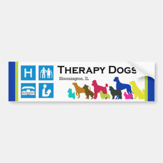 [Therapy Dogs Bloomington Illinois] Bumper Sticker