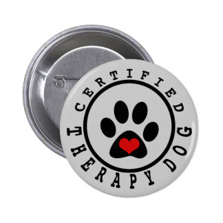 Therapy Paw & Heart Button