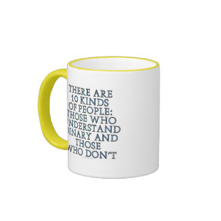 There are 10 kinds of people mugs