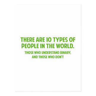 There Are 10 Types Of People In The World Postcard